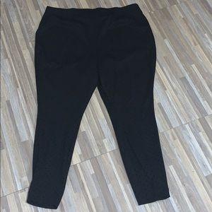 Evri dressy trouser legging - black with polka dot